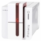 Evolis Primacy, beidseitig, 12 Punkte/mm (300dpi), USB, Ethernet, Smart, RFID, rot